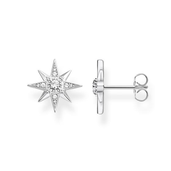 Sparkling Stars Silver Stud Earrings