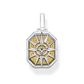 Two-Tone Compass Pendant