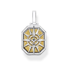 Two-Tone Compass Pendant