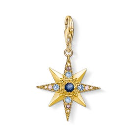 Gold Plated Silver Royalty Star Charm