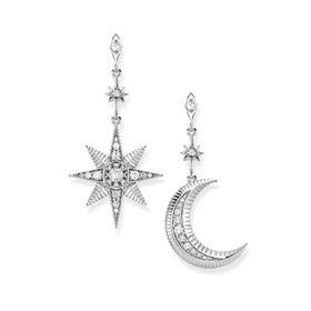 Royalty Star & Moon Drop Earrings