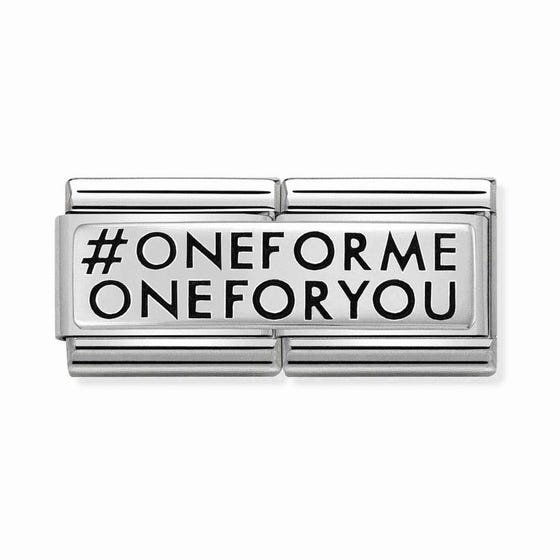 Classic Silver 'One For Me One For You' Double Charm