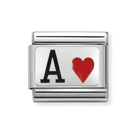 Classic Silver Ace of Hearts Charm
