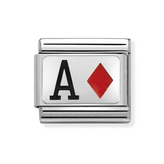Classic Silver Ace of Diamonds Charm