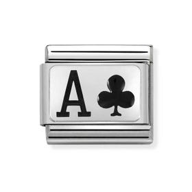 Classic Silver Ace of Clubs Charm