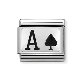 Classic Silver Ace of Spades Charm