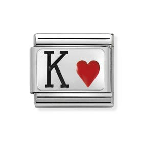 Classic Silver King of Hearts Charm