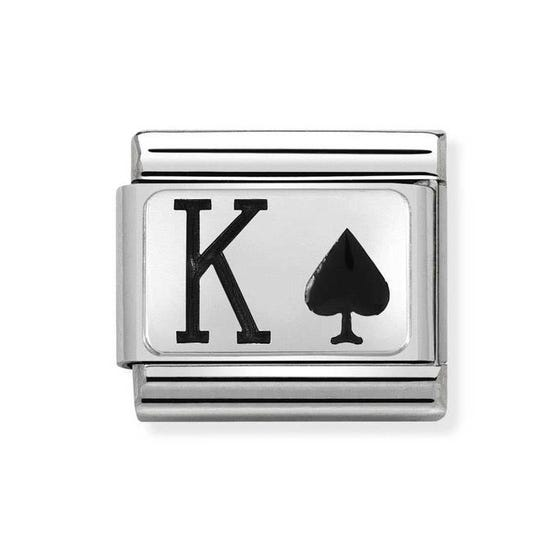 Classic Silver King of Spades Charm