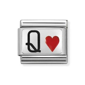 Classic Silver Queen of Hearts Charm