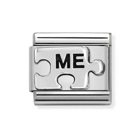 Classic Silver Me Puzzle Charm