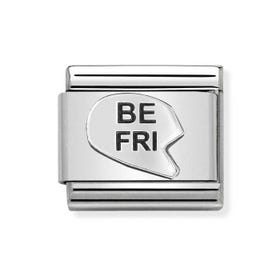 Classic Silver Be-Fri Heart Charm