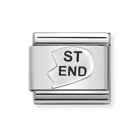 Classic Silver St-End Heart Charm