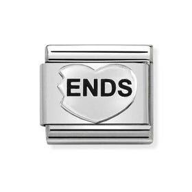 Classic Silver Ends Heart Charm