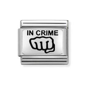 Classic Silver In Crime Charm