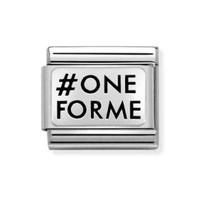 Classic Silver #Oneforme Charm