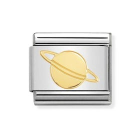 Classic Gold Planet Charm