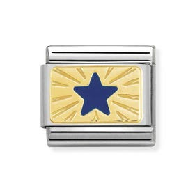 Classic Gold Blue Star Charm