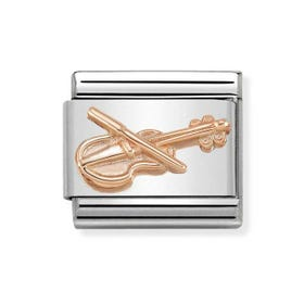 Classic Rose Gold Violin Charm