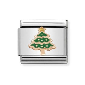 Classic Rose Gold Christmas Tree Charm
