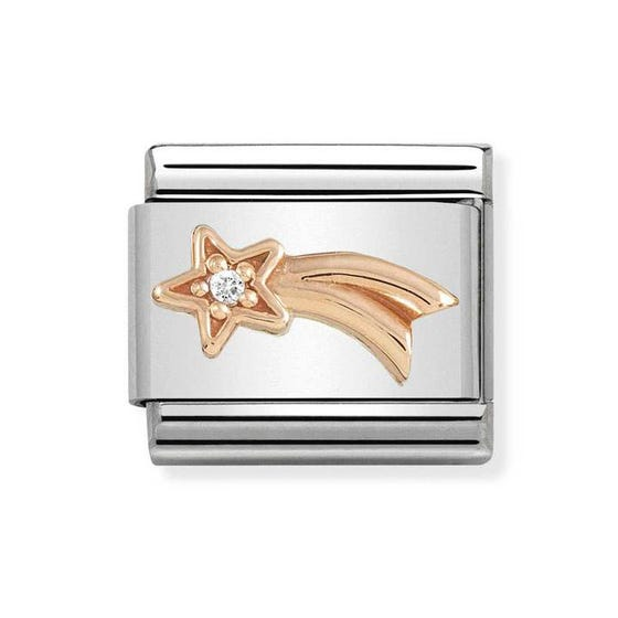 Classic Rose Gold Shooting Star Charm