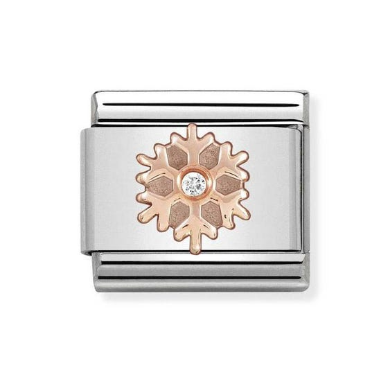 Classic Rose Gold Snowflake Charm