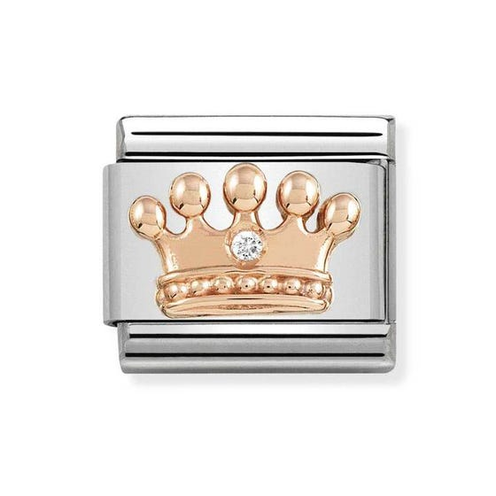 Classic Rose Gold Crown Charm