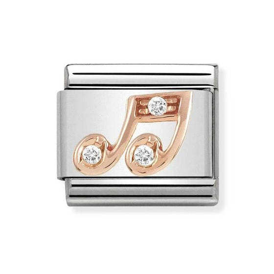 Classic Rose Gold Music Note Charm