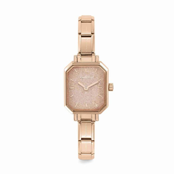 Classic Paris Rose Gold Plated Rose Glitter Watch