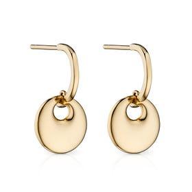 9ct Gold Bold Organic Disc Earrings