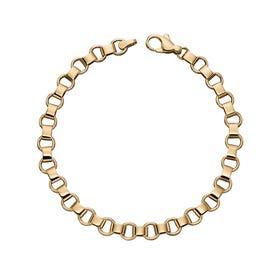9ct Gold Circle Link Bracelet