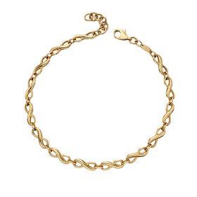 9ct Gold Infinity Tennis Bracelet