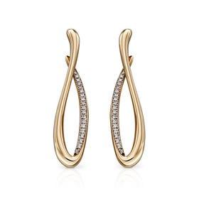 9ct Gold Infinity Diamond Earrings