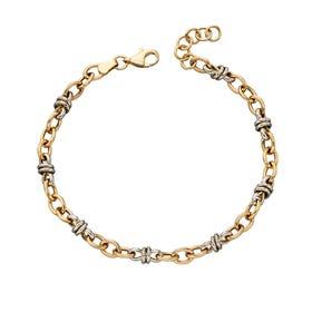 9ct Yellow & White Gold Link Bracelet