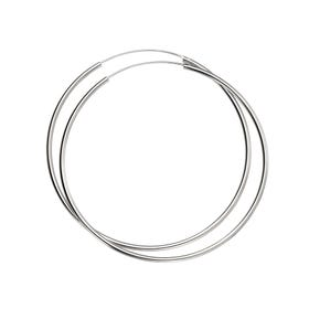 Christa Silver Large Hoop Earrings