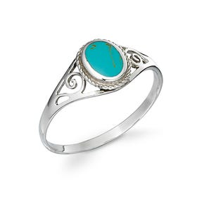 Sophia Silver Turquoise Oval Ring