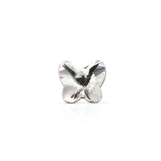 Pick & Mix Silver Crystal Butterfly Single Earring