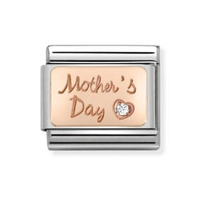 Classic Rose Gold Mother's Day Charm