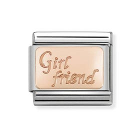 Classic Rose Gold Girlfriend Charm