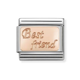 Classic Rose Gold Best Friend Charm