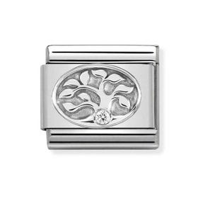 Classic Silver Tree of Life CZ Charm