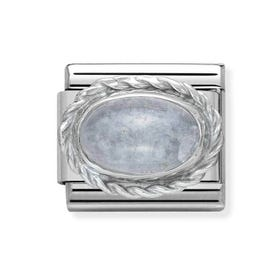 Classic Silver Aquamarine March Birthstone Charm