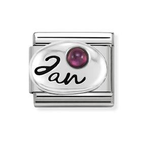 Classic Silver January Birthstone Charm