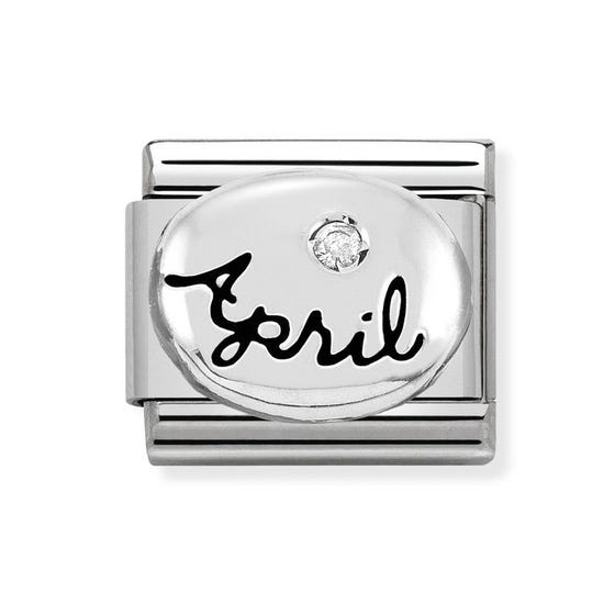 Classic Silver April Birthstone Charm