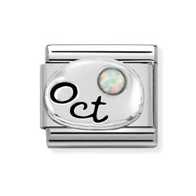 Classic Silver October Birthstone Charm
