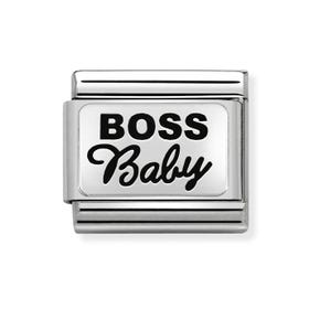 Classic Silver Boss Baby Charm