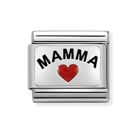 Classic Silver Mamma with Heart Charm