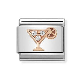 Classic Rose Gold CZ Cocktail Charm