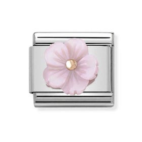 Classic Rose Gold Lilac Flower Charm