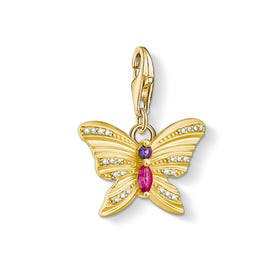 Gold Plated Silver Butterfly Charm