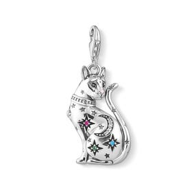 Silver Constellation Cat Charm